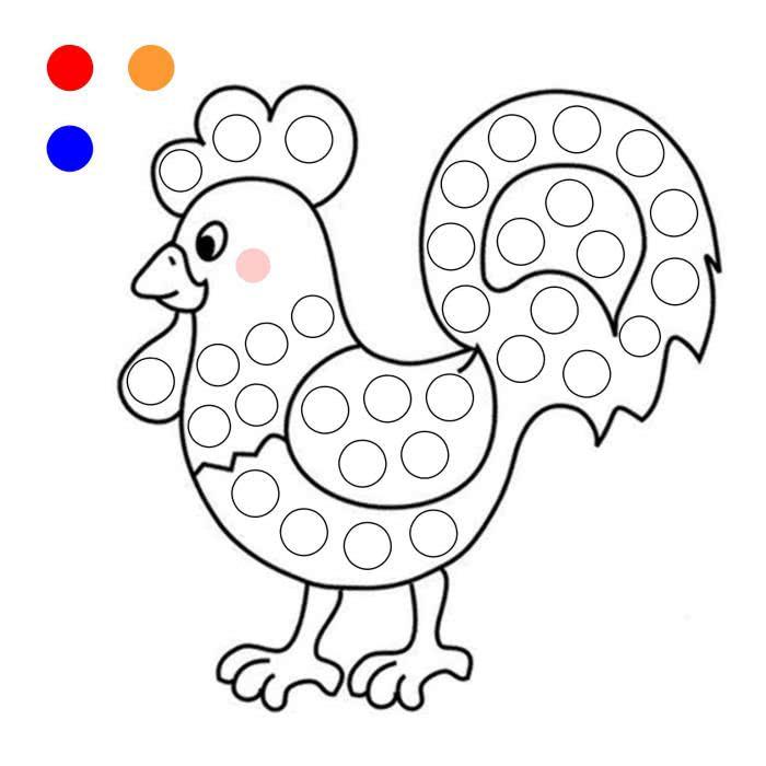 Картинки для ребенка 3 года для рисования пальчиками