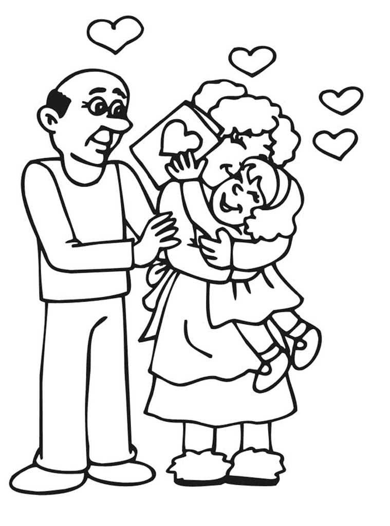 Картинки раскраски ко дню пожилого человека для детей