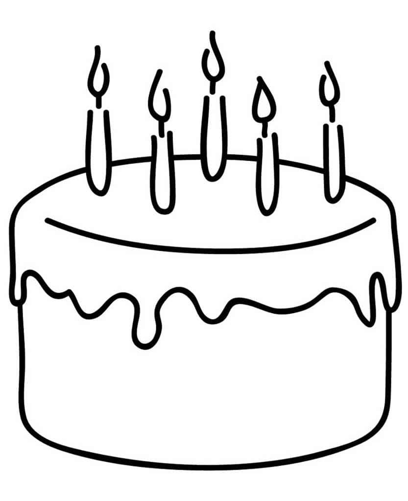 Картинки торт раскраска для детей