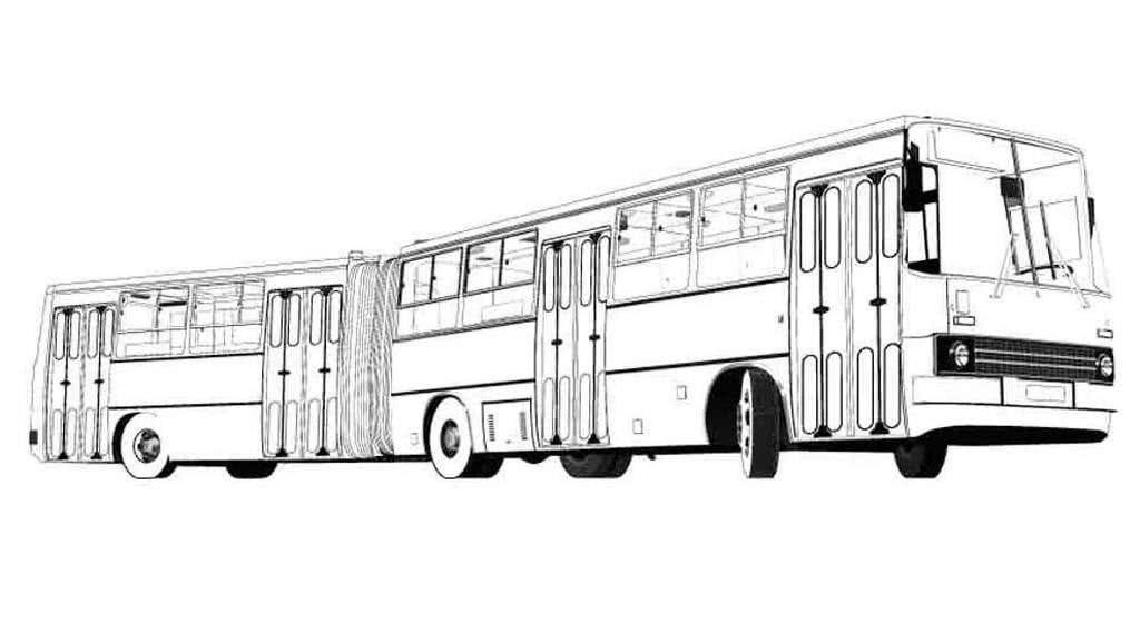 Раскраски Автобусы. Раскраски для мальчиков от 3 до 10 лет.