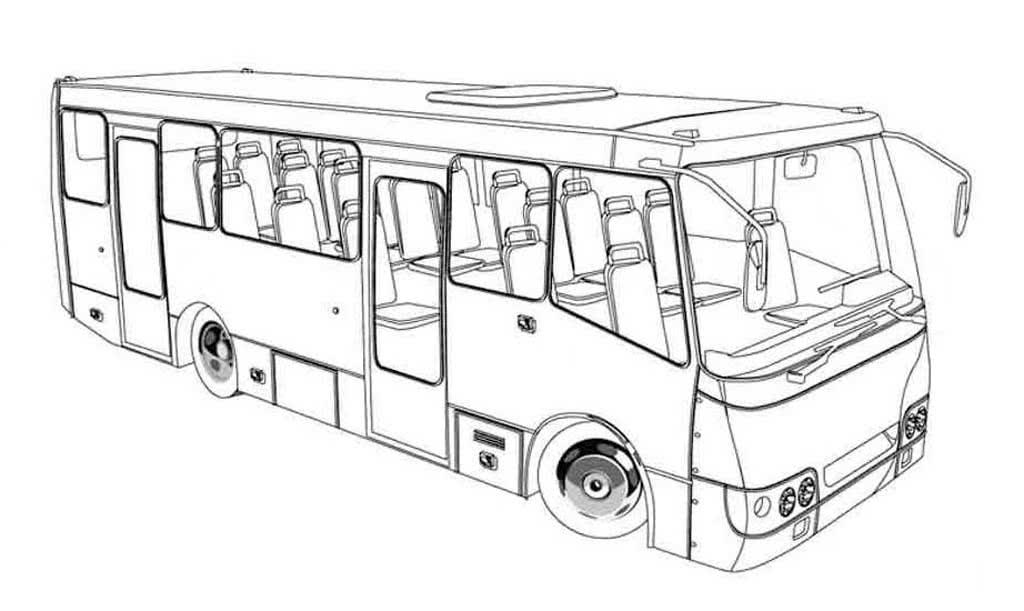 картинки автобусов для раскраски этой породы любят