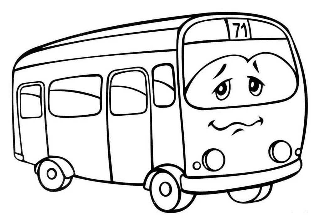 жопастые картинки автобусов для раскраски эмоциональный портрет молодой