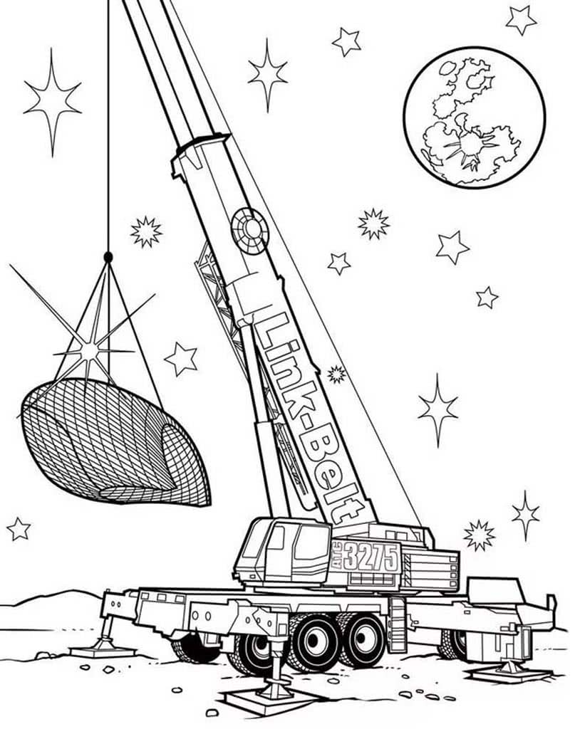 Раскраски Подъемный кран для детей 5-10 лет. Раскраски ...