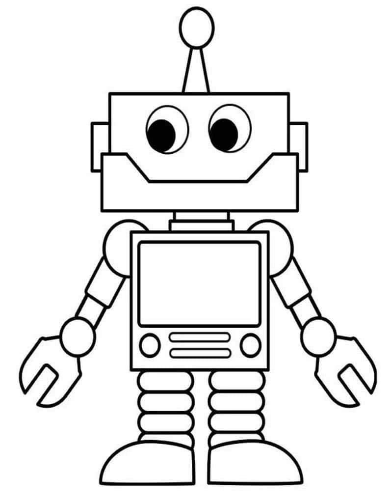 Раскраски Роботы для мальчиков. Современные роботы.