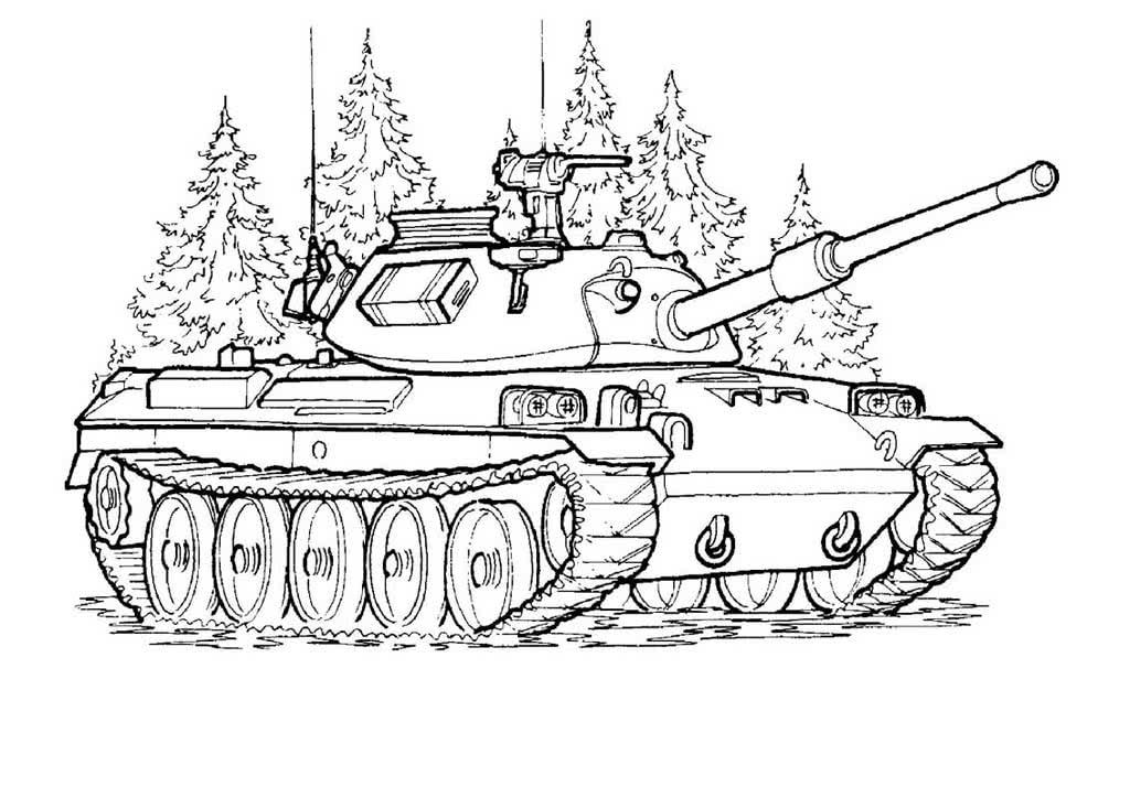 должна раскраска военные танки том, как