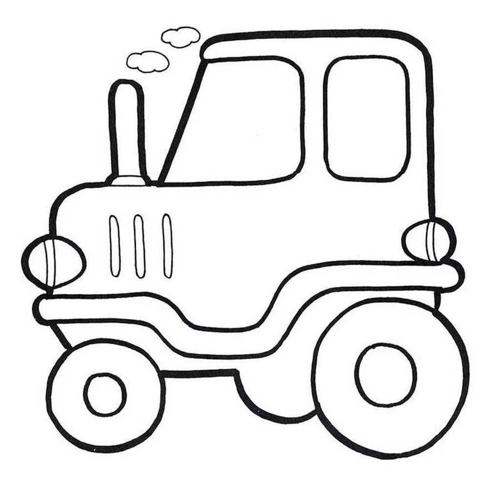 Днем, картинки для ребенка 2 года для раскрашивания трактор
