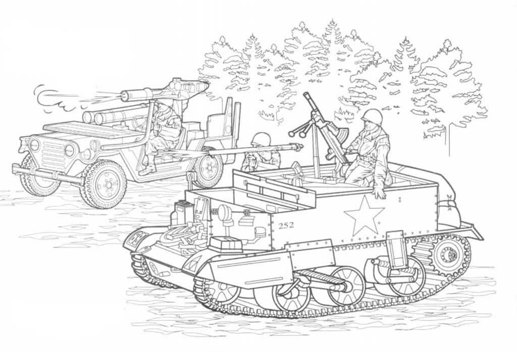 Раскраски для мальчиков военная техника