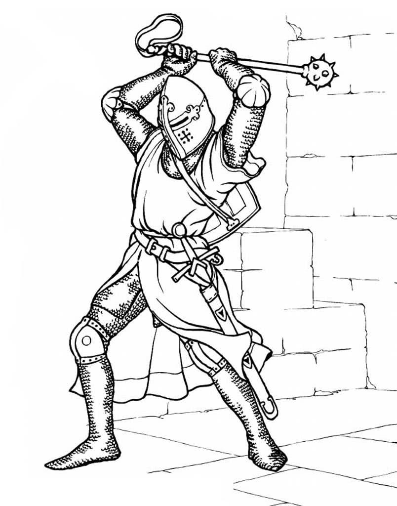 Раскраски Замки и рыцари. Раскраски для мальчиков 5-10 лет.