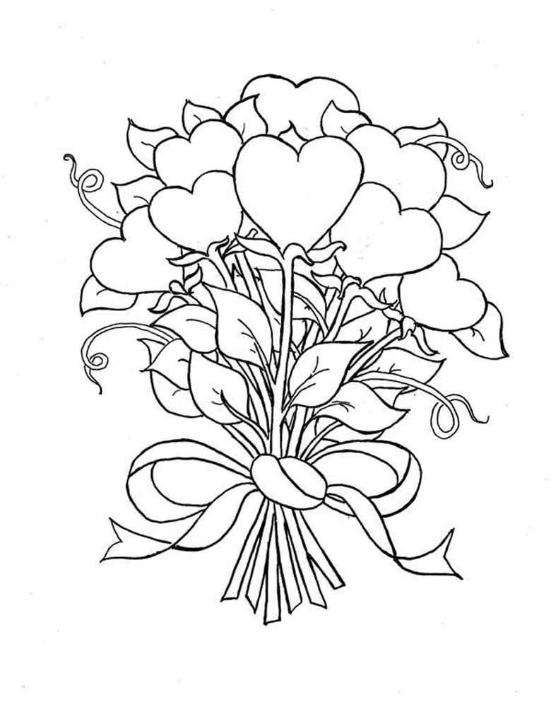Рисунки с букетом цветов