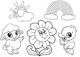 раскраска платок цветами для самых маленьких детей 3 года играть