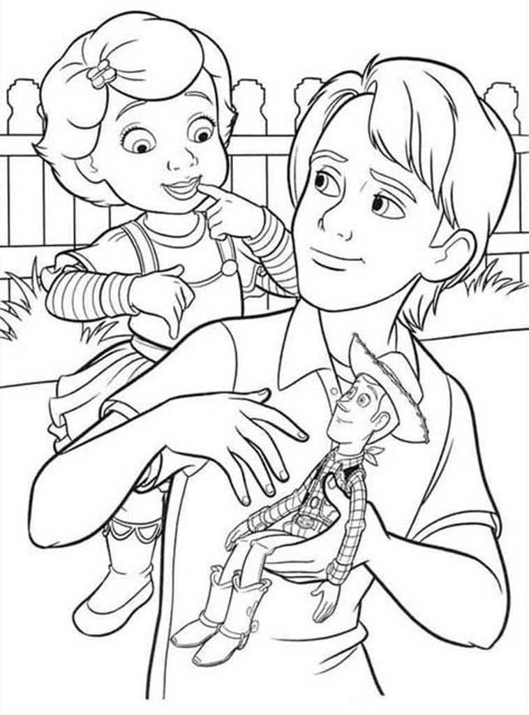 Раскраски История игрушек. Раскраски из мультфильма про ...