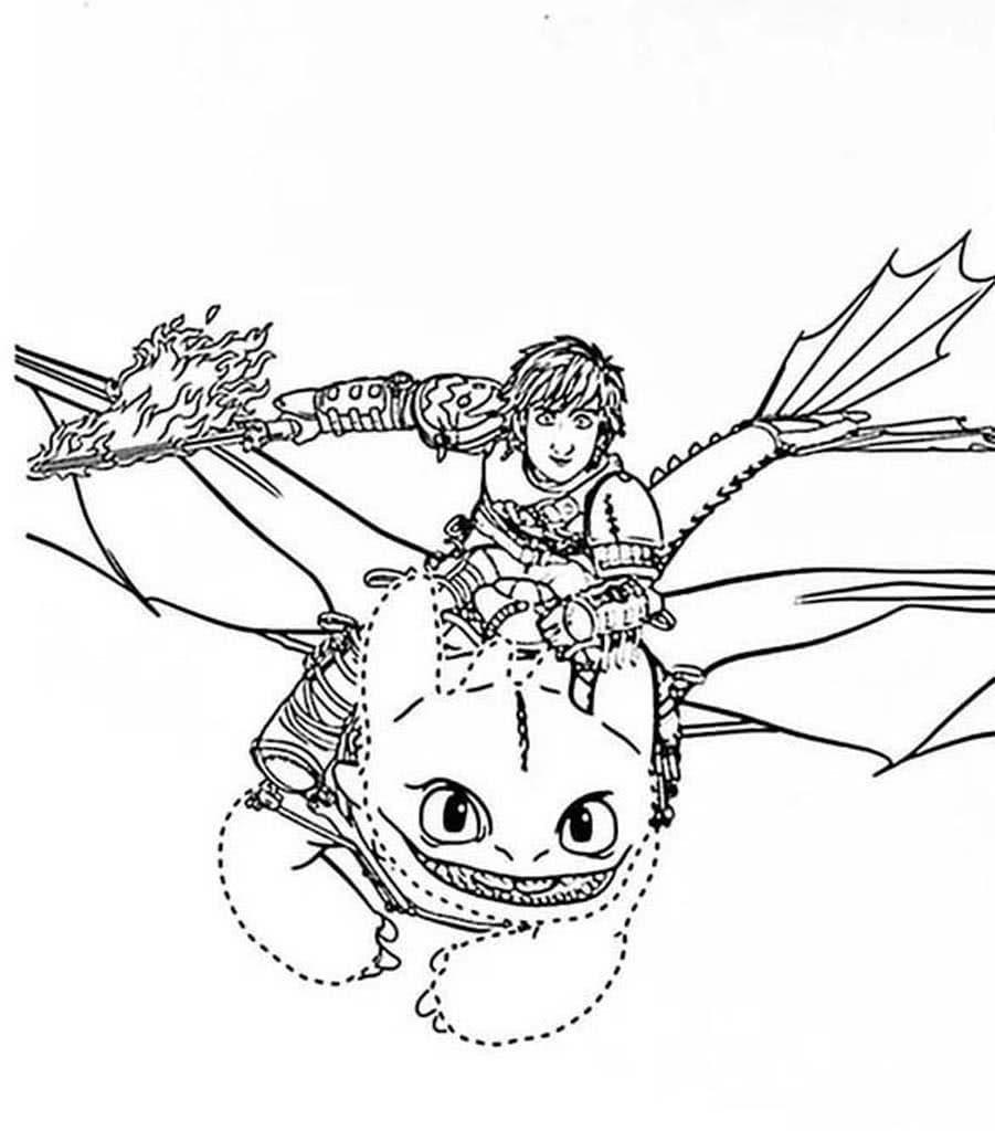 Раскраски Как приручить дракона. Раскраски из мультфильма ...