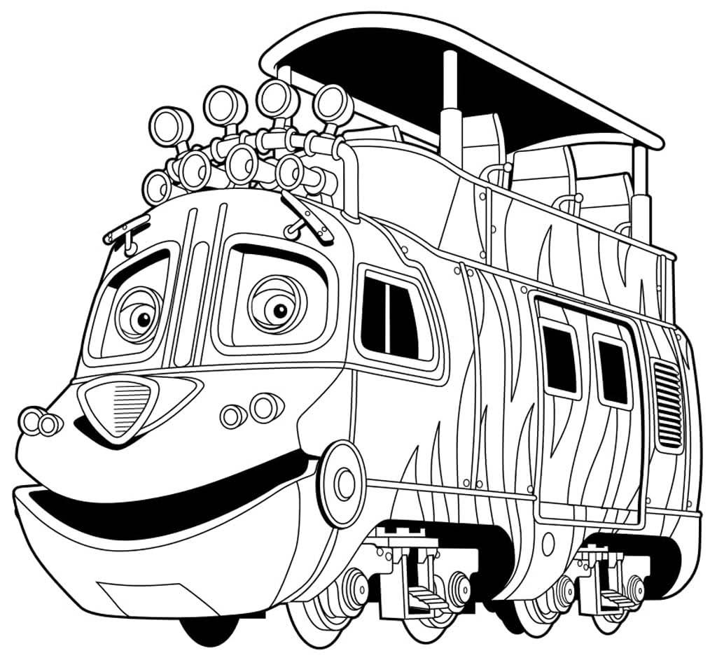 Раскраски Паровозики из Чаггингтона. Раскраски из мультфильма.