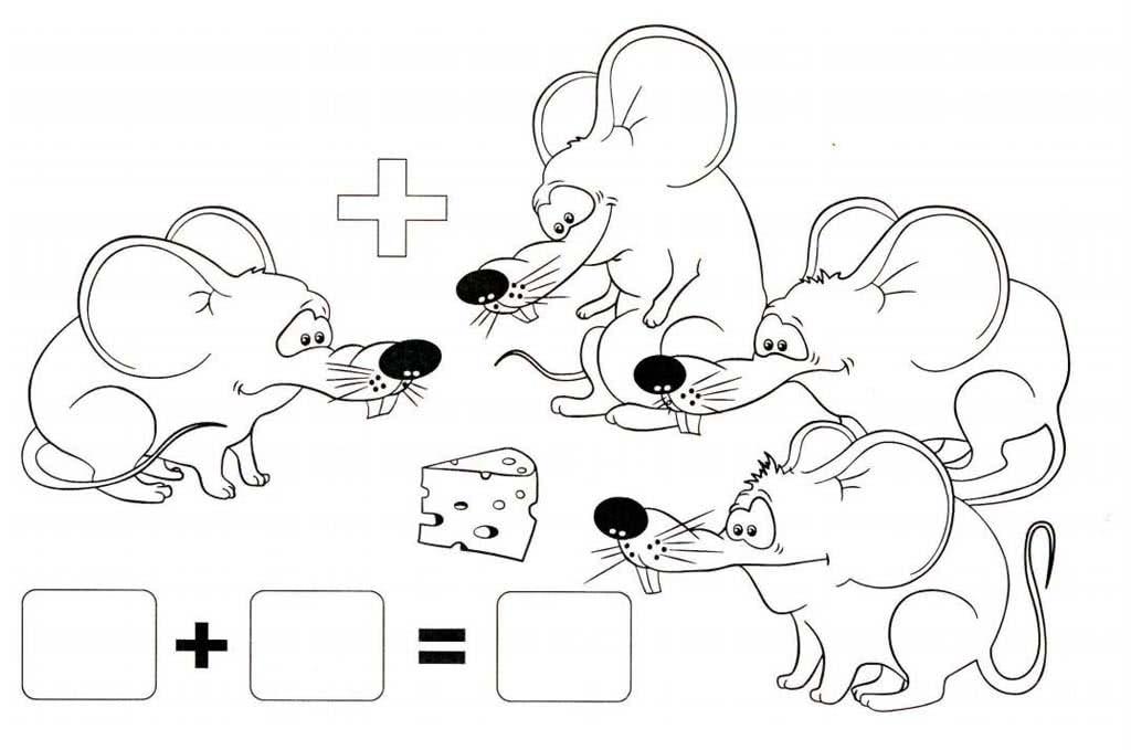 так, картинки раскраски для математических загадок нужно
